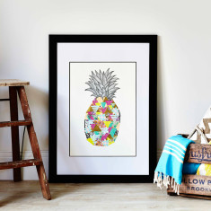 Palm Beach pineapple art print