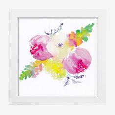 Framed Cass Deller 'Floral #6' print