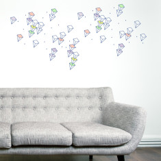 Snowing crystal wall sticker