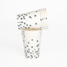 Silver confetti cup (2 packs)