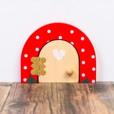 Ruby red dotty fairy door
