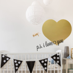 Personalised big love heart wall sticker