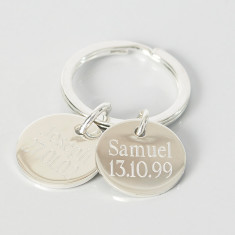 Personalised charm key ring