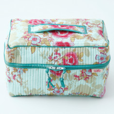 Vanity washbag in blue beautiful print