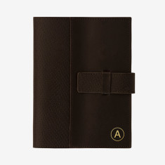 Personalised A6 Leather Journal in brown