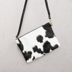 Cynthia Handbag In Black And White Cowhide