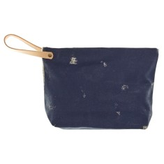 Splash zip clutch with handle