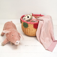 Max Kids' Blanket In Light Pink