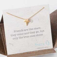 Gold my star necklace