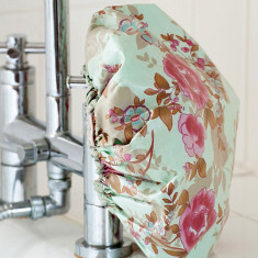 Shower cap in blue beautiful print