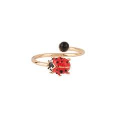 Adjustable ladybird ring