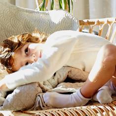 Linen Deco Cot Blanket