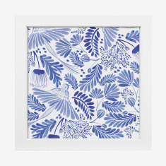 Framed Cass Deller 'Blue Wildlife' print