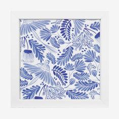 Framed Cass Deller 'Blue Wildlife' print