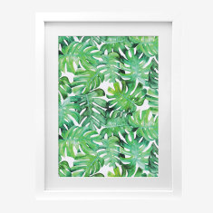 Framed Cass Deller 'Split Leaf Palms' print