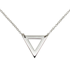 Triangle sterling silver necklace