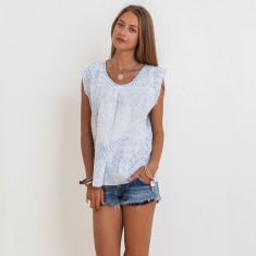 Ivy Sasak Top In Blue