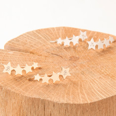 Personalised Shooting Stars Ear Climbers