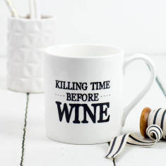 Killing time before wine mug