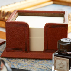 Luxury Leather Memo Box