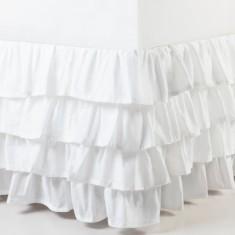 White wash ruffle bedskirt
