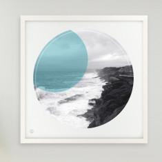 Coastal walk Clovelly circle print