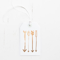 Rose gold foil arrows gift tags (set of 6)