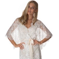Lace Robe - White