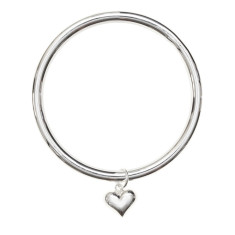 Sterling silver heart bangle