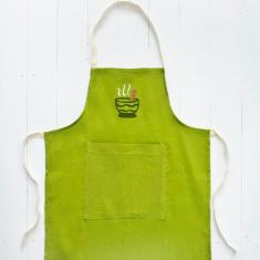 Children's embroidered apron