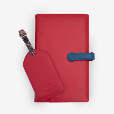 Billie travel wallet & tag set