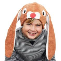 Lil' brown bunny hat & tail set for kids