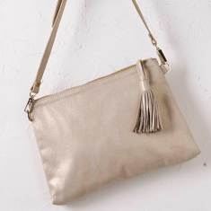 Annette cross body bag in silver