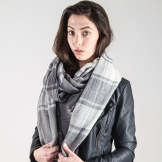 Chequer pashmina scarf