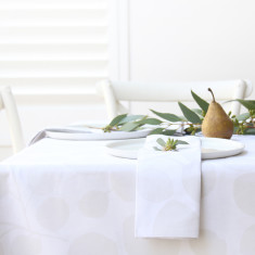 Tablecloth & napkin set eucalyptus snow