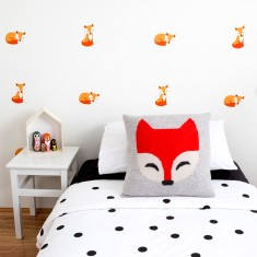 Sleepy foxes wall decal