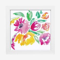 Framed Cass Deller 'Floral #5' print