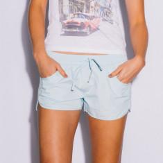 Women's beach shorts in light blue