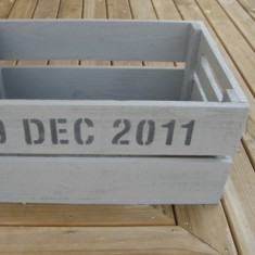 Personalised home entrance crate