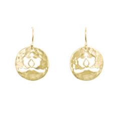 Ottoman disc drop earrings in 18 kt yellow gold plate