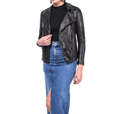 Black WB1 lambskin leather jacket