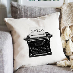 Typewriter cushion cover