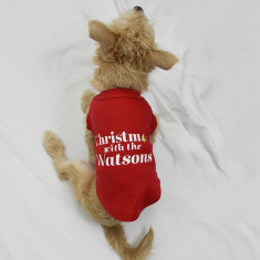 Christmas With The …' Personalised Christmas Pet Vest