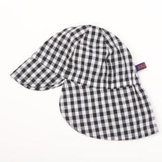 Kids' sun hat in check