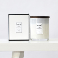 Bamboo & white lily large scented soy candle