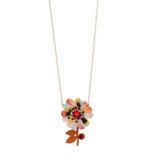 Psychedelic Pastel Flower Necklace