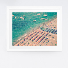 Positano beach photography print