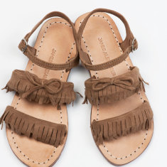 Girls Baja Fringe Sandal Brown sandal
