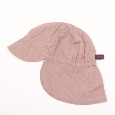 Kids' sun hat in red check