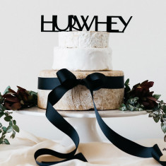 Hurwhey wedding cheese tier cake topper